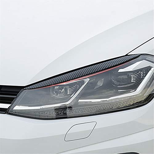 SXHNNYJ Auto Scheinwerfer Augenbrauen Augenlider ABS Chrom Verkleidung 2 Stück, für Volkswagen VW Golf 7 MK7 GTI R Autozubehör