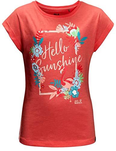 Jack Wolfskin Mädchen Sunshine T-Shirt, Desert Rose, 140