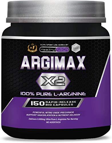 Healthy Fusion Arginina Pura Per Dose   Potente Arginina In Capsule Per Aumentare L'Energia, Le Prestazioni Sportive E Lo Sviluppo Muscolare - 300 g