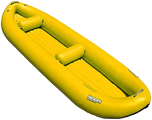 Hardcore Water Sports Inflatable 2 Person Whitewater Kayak (Yellow)