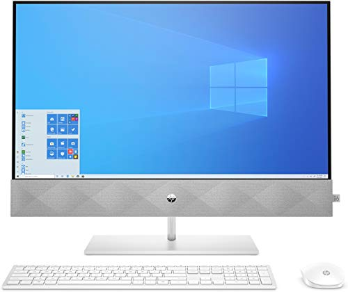 HP Pavilion 27-d0002ng (27 Zoll /QHD) All-in-One PC (Core i7-10700T, 16GB DDR4, 256GB SSD + 1TB HDD, nVidia Geforce MX350 2GB, Windows 10 Home) Weiss