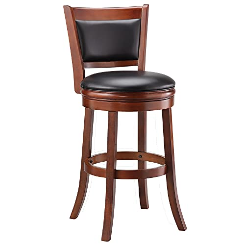 Ball & Cast Swivel Pub Height Barstool 29 Inch Seat Height Cherry Set of 1
