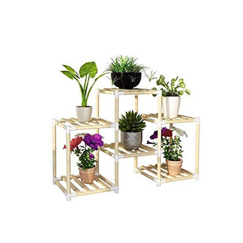 XIN Jardin Stand De Fleurs Bambou Multicouche Assemblée Intérieur Salon Balcon Gain De Place Atterrissage Étagère