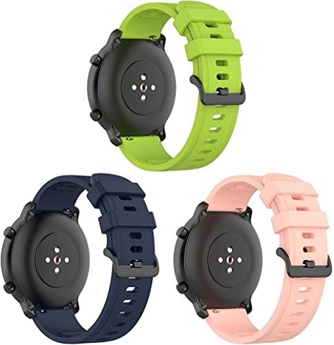 Classicase Cinturino per Orologi, Silicone Cinturino per Orologio compatibile con Garmin Vivoactive 3 (44MM) / vivoactive 3 music/Vivomove Style, Cinturino di Ricambio Quick-Fit (20mm, 3-Pack H)