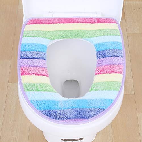 YSDDM Badmat Badkamer Set Flock Print Verdikking Rits Toilet Set Kleurrijke Toilet Zitplaatsen Pad Toilet Mat Comfort Toilet Stoel Kussen Cover-in Toilet Stoelhoezen