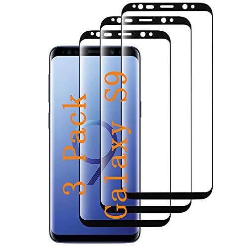 ErWaad [3 pellicole protettive per Galaxy S9 in vetro temperato di alta qualità [sensore di impronte digitali] [HD Clear] [senza bolle] Pellicola in vetro temperato per Samsung Galaxy S9