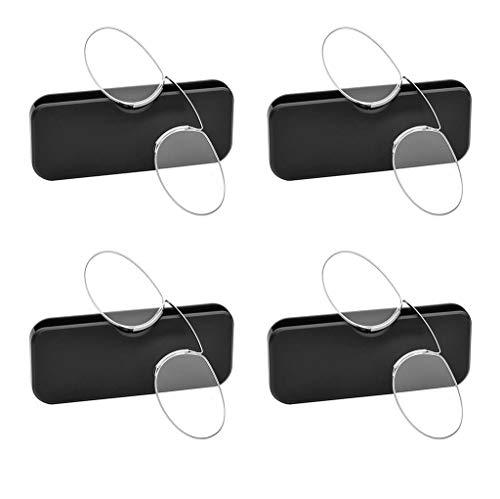ZBINGAFF Clip-on Lesebrille, Rahmenlos Laser-Minikarten Brille, Clip-on-Gläser for ältere Menschen, Extrem leicht und tragbar zu lesen, 4 neutral (Color : Black, Size : 2.5X)