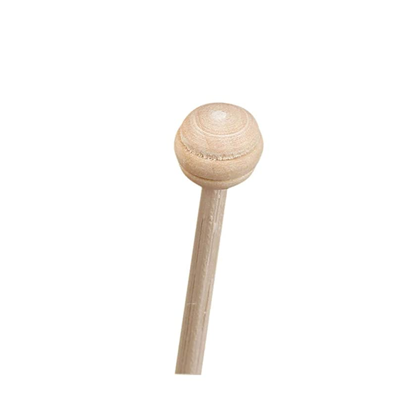 かすかな五月アクセルHealifty 10ピースratフレグランスリードスティックエッセンシャルオイルディフューザースティックアロマ交換スティック木製ビーズヘッド付き