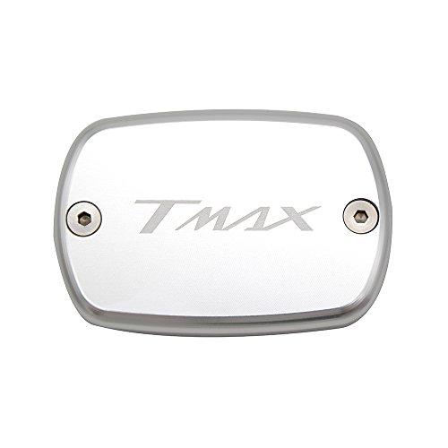 Tmax 530 XP 530 Tmax 500 Tappo Serbatoio Liquido Pompa Freno Anteriore Front Brake Fluid Reservoir Cap per Yamaha T-max 530 XP 530 2012 2013 2014 2015 2016 T-max 500 2008 2009 2010 2011 (Argent)