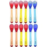 Set de 6 Tenedores y 6 Cucharas Siliconas Bebé,...