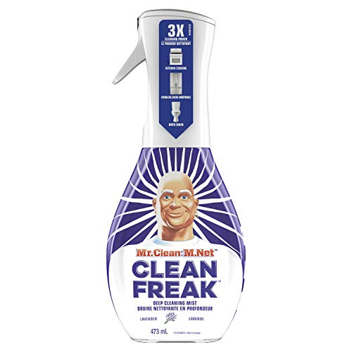 Mr. Clean Clean Freak Deep Cleaning Mist Multi-Surface Spray, Lavender Scent Starter Kit, 1Count, 16 Fl Oz