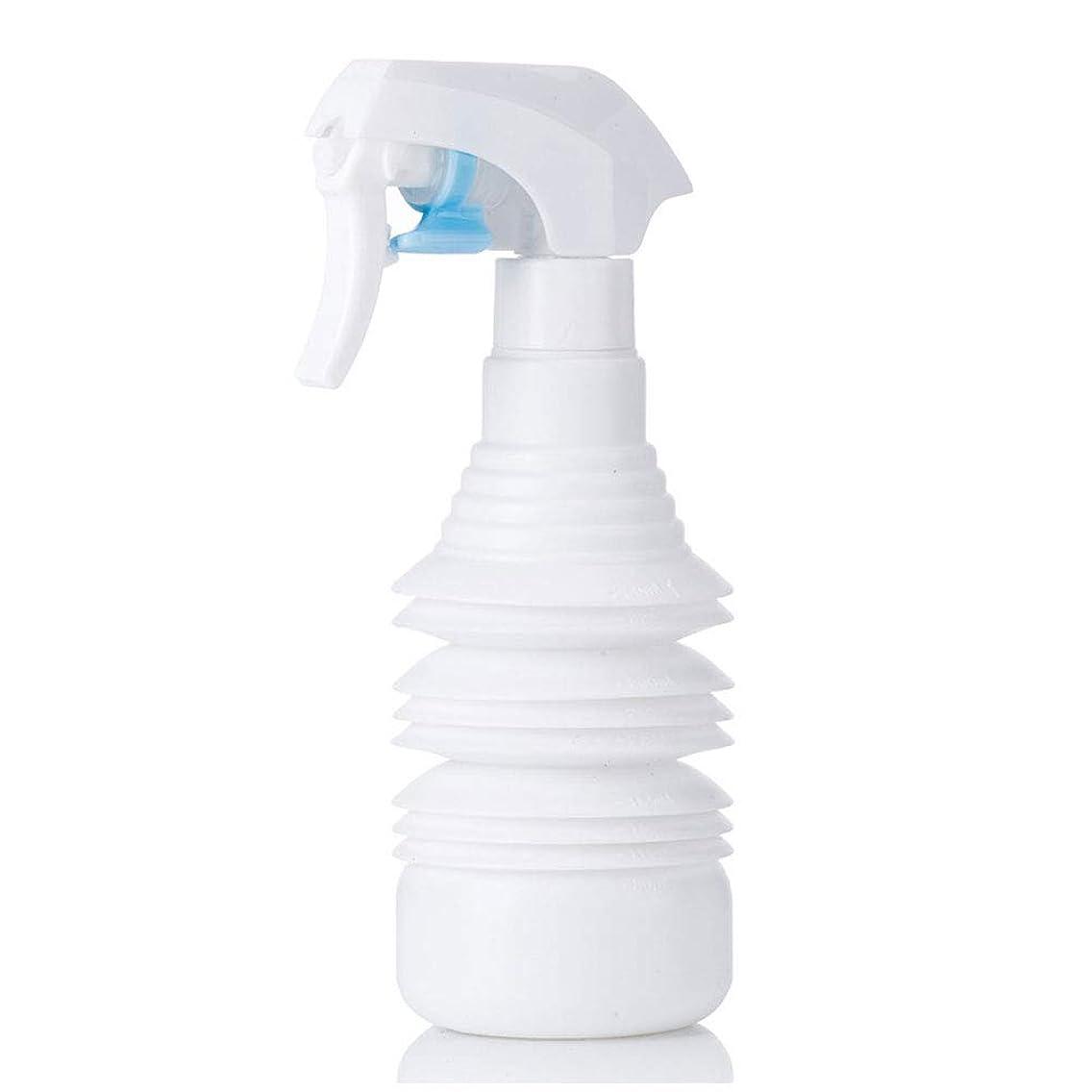 懺悔審判証明ヘアスタイリストヘアスプレー気化器用カーリーヘアスプレーボトルアトマイザー1100ml空スプレー用伸縮式超微細スプレーボトル-ブラック,白