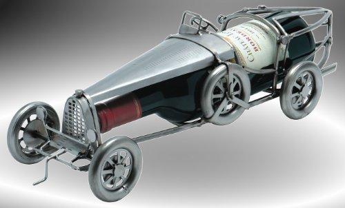 """Boystoys HK Design Weinflaschenhalter Auto \""""Oldtimer\"""" - Metall Art Weinflaschen-Deko & Autogeschenke - Original Schraubenmännchen Kollektion - handgefertigte Geschenkidee"""