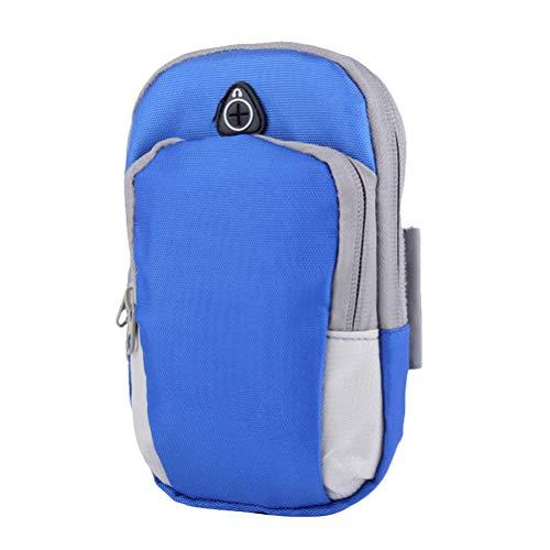 Acessórios de corrida 1 peça à prova d'água bolsa de braço esportiva elegante para telefone Arnband grande bolsa de braço de exercício respirável bolsa de braço de corrida para uso fitness escalada (azul)