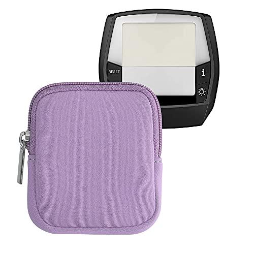 kwmobile Tasche kompatibel mit Bosch Intuvia - E-Bike Computer Neopren Hülle - Schutztasche Lavendel