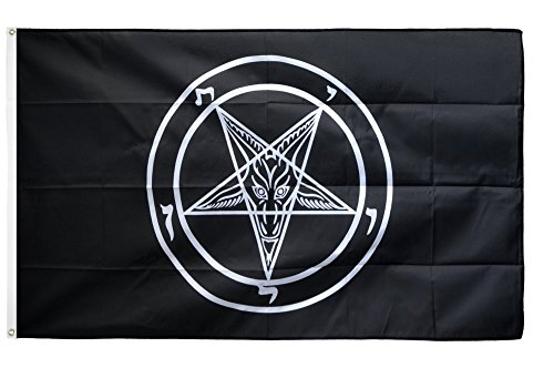 Fahne / Flagge Baphomet Church of Satan + gratis Sticker, Flaggenfritze®