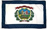 FlagSource West Virginia Nylon State Flag, Made in the USA, 3x5