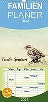 Freche Spatzen - Familienplaner hoch (Wandkalender 2022 , 21 cm x 45 cm, hoch): Spatzen humorvoll praesentiert (Monatskalender, 14 Seiten )