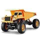 PBTRM RC Camión Volquete Funcional Completo, Control Remoto Tractor Escalada Tracción Cuatro Ruedas Big Truck Transporter Boy Toys