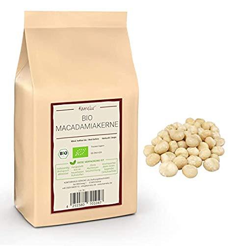 500g di noci di macadamia BIO naturali - noci di macadamia intere senza buccia di classe 1l, non trattate