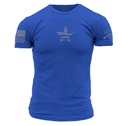 Grunt Style Basic American Star - Men's T-Shirt (Royal, Large)