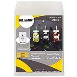 Mr-Label 2' x 3-1/3' Oval White Sticker Label - Waterproof and Tear-Resistant - for Inkjet & Laser Printer - for Gift Decoration Hand Craft (25 Sheets Total 200 Labels)