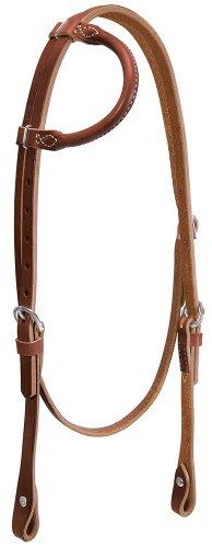 Weaver Leather Horizons Rolled Sliding Ear Headstall Sunset, Horse