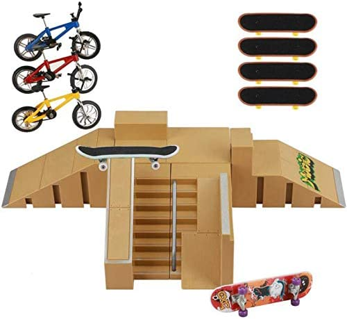 ideallife Skate Park Kit Skate Park Kit Ramp Parts for Finger Skateboard Fingerboard Ramp Skate product image