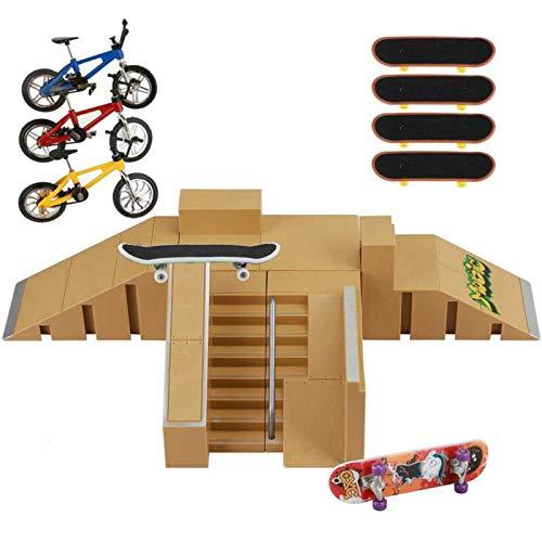 ideallife Skate Park Kit, Skate Park Kit Ramp Parts for Finger...