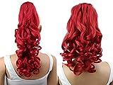 PRETTYSHOP 2 IN 1 30cm Und 40cm Haarteil Zopf Pferdeschwanz Haarverlängerung Voluminös Gewellt Rot H10-2