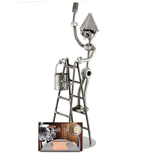 Steelman24 I Pintor De Brocha Gorda con Portatarjetas De Visita con Grabado Personal I Made in Germany I Idea para Regalo