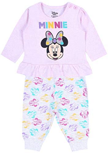 Roze blouse + grijze leggings Minnie Disney