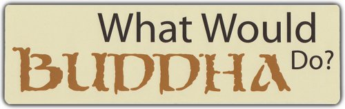 Bumper Sticker: What Would Buddha Do? | Peace Coexist