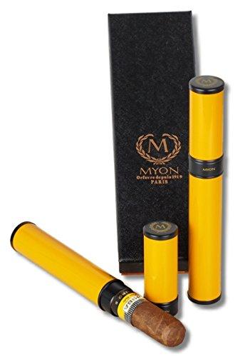 Zigarren Tubo de Luxe MYON of Paris Racing Edition Gelb inkl. Lifestyle-Ambiente Tastingbogen