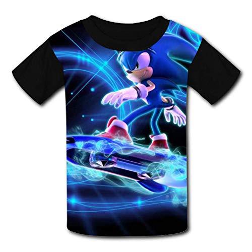 maichengxuan T-Shirt Kurzarm Kinder T-Shirt Sonic_Riders Running T-Shirt für Mädchen Jungen