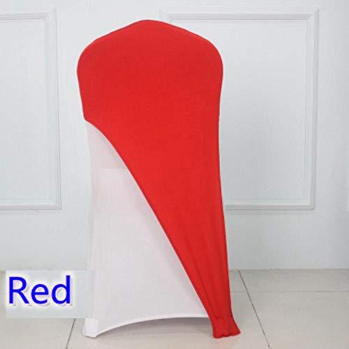 24 kleuren spandex stoelhoes lycra cap halve hoes bruiloft hotel banket decoratie stretch elastische stoelhoes, rood, geschikt voor alle stoelen