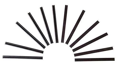 Windhager Magnet-Profile Magnet-Türschliesser Magnetstreifen, Zubehör für Insektenschutz-Türen Fliegengitter-Türen, 6 Sets, anthrazit, 10 x 0,8 cm, 03533