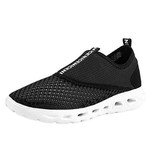 AIni Herren Schuhe,Mode 2019 Neuer Heißer Beiläufiges Paar Hohle atmungsaktive leichte Turnschuhe Soft Bottom Mesh Laufschuhe Partyschuhe Freizeitschuhe(40,Schwarz)