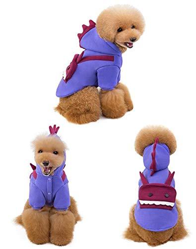 CHUANGJIE Herfst Winter Huisdier Sweater Halloween Kerst Grappige Teddy Transformer Robot Hond Kleding Lovely/Paars