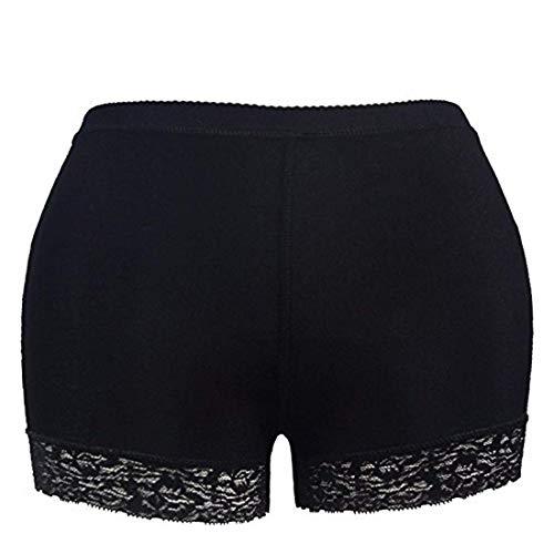 DALUCI Women's Polyester Butt Lifter Sexy Shapewear Panty (Black, Medium)