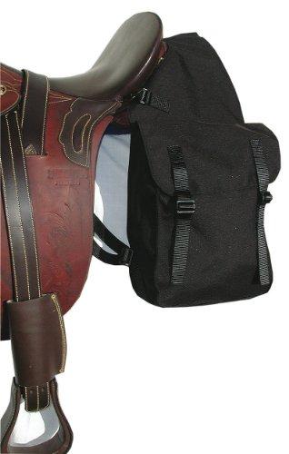 Zadeltas voor paarden | paktas | Dubbele tas gemaakt van nylon/cordura, zwart