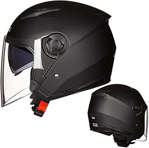 DAWN & ROSE Casco de motocicleta casco de bicicleta eléctrica apareció doble...