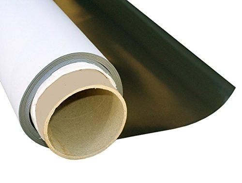 Magnetfolie weiß matt beschichtet 0,4mm x 50cm x 50cm - flexible magnetische Folie, in Digitaldruck bedruckbar, haftet auf allen metallischen Oberflächen