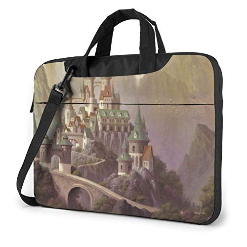 15.6″Lightweight Laptop Notebook Shoulder Backpack Bag Castle Waterproof PC Briefcase Messenger with Strap