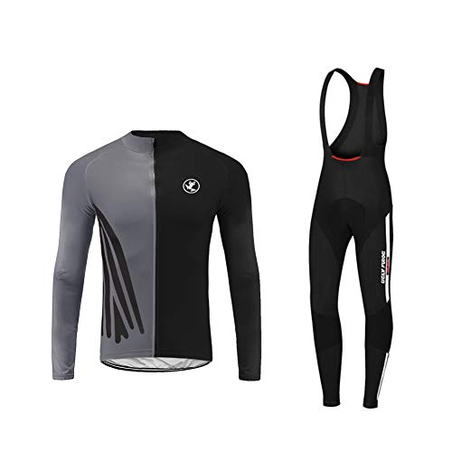 Uglyfrog Disegni Speciali Completo Ciclismo Abbigliamento Set Uomo Inverno Termico Vello Maniche Lunghe Antivento Ciclismo Maglia + 3D Lunga e Pantaloni-Grandi Regali