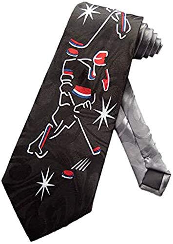 Steven Harris Mens Ice Hockey Player Necktie - Black - One Size Neck Tie