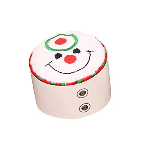 BESTOYARD Gâteau de Noël modelant Une Serviette en Coton Gant de Toilette Chic Cadeau pour la décoration de Noël