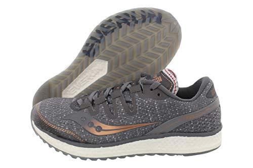 Saucony Women's Freedom ISO Running Shoe, Grey/Denim, 9.5 M US