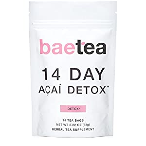 Detox products Baetea 14-Day Teatox Herbal Detox Tea Supplement with Green Tea & Ginger Root,