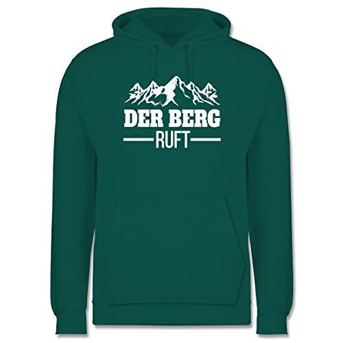 Après Ski - Der Berg Ruft - weiß - 3XL - Türkis - Berge - JH001 - Herren Hoodie und Kapuzenpullover für Männer